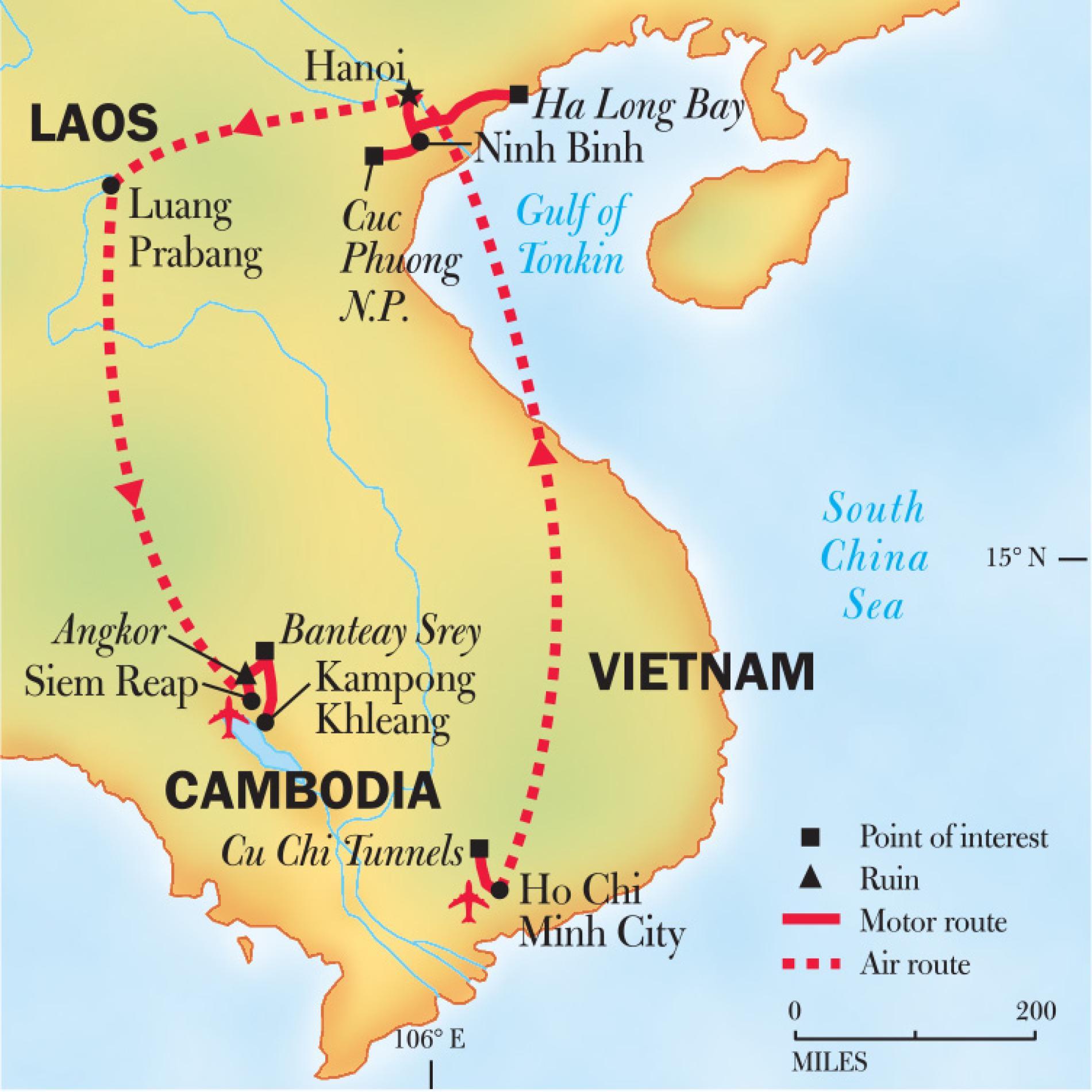 Vietnam, Laos, and Cambodia: Treasures of Indochina